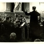 Ludwig Misch directing the Jewish Madrigals Association in Berlin.