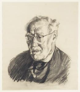Ludwig Meidner, Portrait of Leo Baeck, 1953