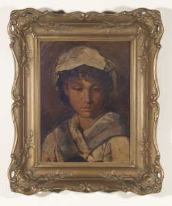 Anselm Feuerbach, Head of a Girl, 19th Century
