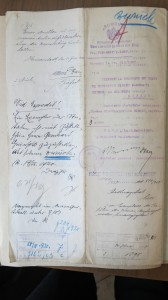 "Articles of incorporation for the ""Friends of the Mishnayot"", a club founded by men from the Sibiu Jewish community in 1919 who hoped to spur religious study and combat ""immoral elements"" among the youth. The documents are characteristic of the interwar period in their multi-lingual character, using German, Romanian, and Hungarian. —Romanian National Archives, Sibiu Branch"