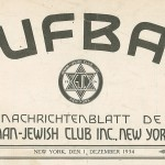 The masthead on the inaugural issue of Aufbau.
