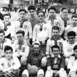 "The youth team of the New World Club at the ""Sterling Oval"" in the Bronx, undated"