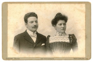 Otto and Emma Oppenheimer, shortly after their marriage in 1903. Courtesy Harry Ettlinger.