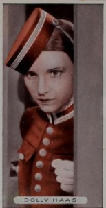 The actress Dolly Haas pictured on a series of collectible cards published by the British tobacco company Ardath in 1934. Dolly Haas Family Collection: AR 25447