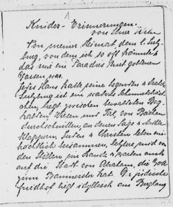 Lena Kahn's handwritten memoir from the LBI Archives
