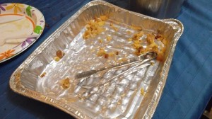 Although the guests expressed dismay over the rich ingredients, that didn't stop them from eating the entire kugel.