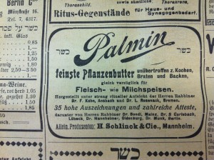 "Around the turn of the century cooks gained access to another butter alternative, ""Palmin"", made from coconut oil."
