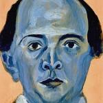 Arnold Schönberg: Blaues Selbstportrait, 1910