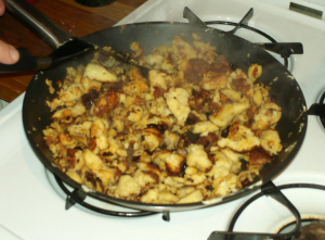 Completely cooked Kaiserschmarrn