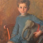 Louise Lyons Heustis. Portrait of a Boy with an Elephant, 1925.