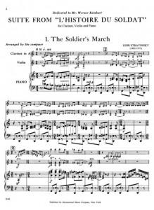 Stravinsky's Suite de L'histoire du soldat