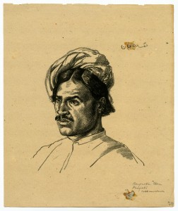 Raupratta Chan, Punjabi, 1916, Etching by Hermann Struck.