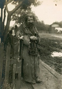A Jewish beggar in Hrubieszów (Poland)