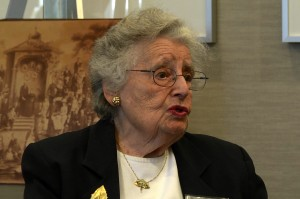 Marianne Dreyfus, the granddaughter of Leo Baeck, discusses her family's history during an LBI event October, 2014 in Chicago