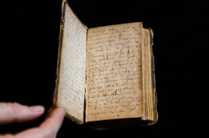 This handwritten diary from the 18TH century is typical of documents that could be transcribed under a new program. Photo, Jon Pack.