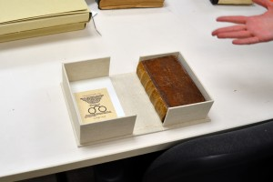 A custom clamshell enclosure for a book from the Frank L. Herz Rare Book Collection