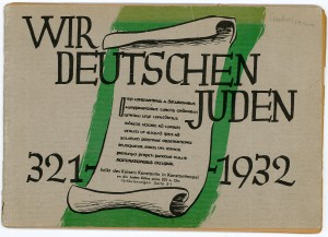 This pamphlet was published by the Centralverein, a leading national Jewish organization. It enumerates the contributions of Jews to German culture and is typical of the mainstream German-Jewish response to anti-Semitism, which rejected Zionism in favor of the argument that Germany was the long-established homeland of its Jews.