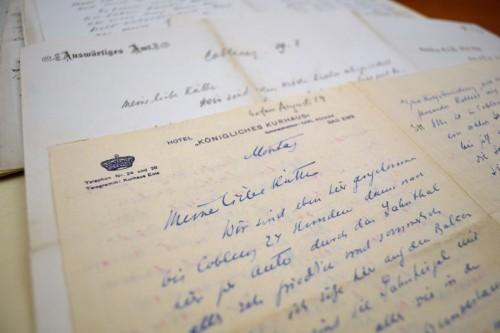 Letters from Kurt Riezler to Käthe Liebermann written in the early months of WWI. AR 25484