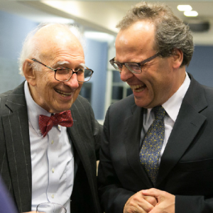 At the Leo Baeck Institute Award Dinner: Eric Kandel and Felix Klein, Special Representative for Relations with Jewish Organisations at the German Federal Foreign Office