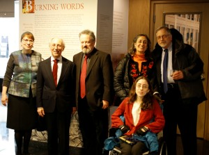 (l-r) Columbia University historian Elisheva Carlebach; President & CEO of the Center for Jewish History, Joel Levy; Playwright Peter Wortsman; Frank Herz's daughter-in-law, Janet Stahl; Herz's grand-daughter, Dana Stahl-Herz; and Herz's son David Herz.
