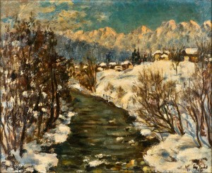 "Eugenie Fuchs, ""Winter Landscape"", Oil on Canvas, 1931. Stiftung Stadtmuseum Berlin, Inv.-Nr. SM 2014-0449"