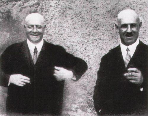 """Unten: Julius und Arthur Simson, aus: """"Die Simson-Legende"""" von Siegfried Schütt, erschienen 2006 im Druckmedienzentrum Gotha."""