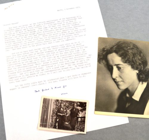 A letter from Hans Jonas to Hannah Arendt